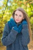 Trendy woman in warm autumn fashion Stock Photo