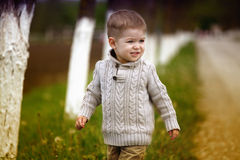 Trendy 2 years old baby boy posing Stock Photography