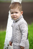 Trendy 2 years old baby boy posing Royalty Free Stock Photos