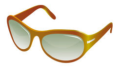 Trendy yellow sunglasses Stock Image