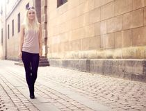 Trendy Young City Girl Royalty Free Stock Photo