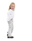 Trendy young female toddler stock photos