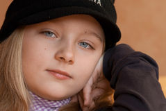 Trendy young girl Royalty Free Stock Images