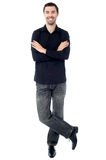 Trendy young guy posing in style Stock Image