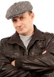 Trendy young man with hat Royalty Free Stock Images