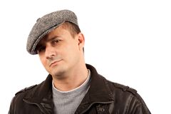 Trendy young man with hat Stock Photo
