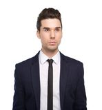 Trendy young man with jacket and tie Stock Images