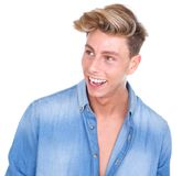 Trendy young man laughing Royalty Free Stock Photo