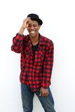 Trendy young man laughing Royalty Free Stock Photos
