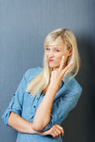 Trendy young woman Royalty Free Stock Photo