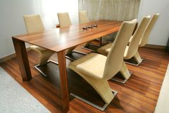 Trendys dining room Royalty Free Stock Image