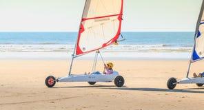 Trener daje lekci piaska jachting Obrazy Royalty Free