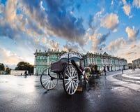 Trener dla spacerów na pałac kwadracie w St Petersburg, Russ Obraz Royalty Free