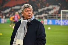 Trener FC Shakhtar Mircea Lucescu Zdjęcie Stock