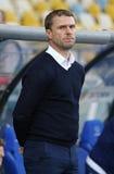 Trener główny FC dynamo Kyiv Sergiy Rebrov zdjęcia royalty free