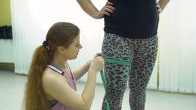 Trener nogi Pomiarowy rozmiar jej klient zbiory