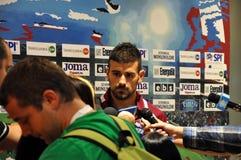 Trener przy konferencją prasową Zdjęcie Royalty Free