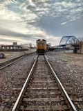Trenes al azar en Atchison Kansas imagen de archivo