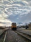 Trenes al azar en Atchison Kansas fotografía de archivo