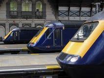 Trenes británicos Fotos de archivo libres de regalías