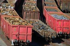 Trenes con las mercancías imagen de archivo libre de regalías