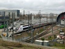 Trenes de alta velocidad del TGV Lyria imagen de archivo libre de regalías