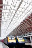 Trenes de la estación de Paddington Foto de archivo libre de regalías