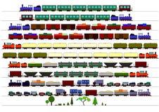 Trenes de los niños Imagen de archivo