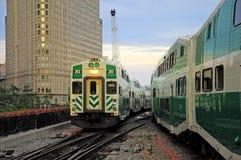 Trenes de pasajeros. Foto de archivo
