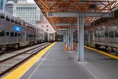 Trenes de pasajeros de Metra Fotos de archivo