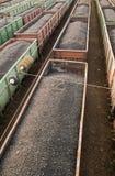 Trenes del carbón en la estación Fotografía de archivo