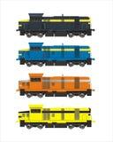 Trenes del color Fotografía de archivo