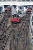 Trenes del subterráneo de Londres Imágenes de archivo libres de regalías