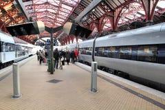 Trenes en Dinamarca Foto de archivo libre de regalías