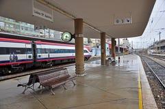 Trenes en Lisboa antes de la huelga el 26 de noviembre Imagen de archivo libre de regalías