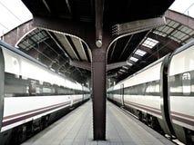 Trenes en un stration del tren Fotografía de archivo libre de regalías