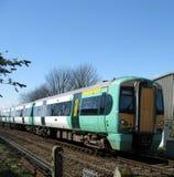 Trenes urbanos foto de archivo