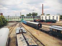 Trenes viejos foto de archivo libre de regalías