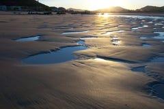 trengandin noja пляжа Стоковое Изображение RF