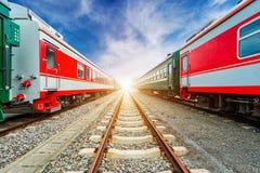 treni Fotografia Stock Libera da Diritti
