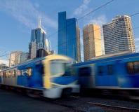 Treni che viaggiano velocemente Immagine Stock Libera da Diritti