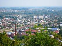 Treni di ferrovia, Leopoli Ucraina Fotografie Stock Libere da Diritti