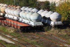 Treni di trasporto Fotografia Stock