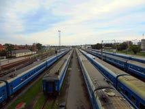 Treni elettrici Immagine Stock