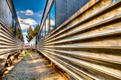 Treni in ferrovia Fotografie Stock Libere da Diritti