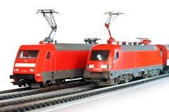 Treni miniatura Immagine Stock