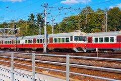 Treni passeggeri in Finlandia fotografie stock libere da diritti