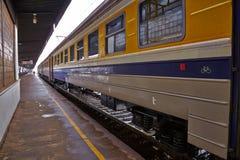Treni sullo staion Immagine Stock