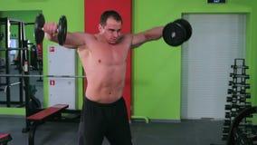 Trening dla młodego bodybuilder zbiory wideo