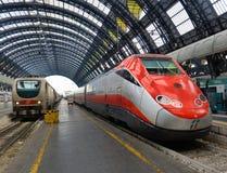 Trenitalia Frecciarossa (red a Stock Image